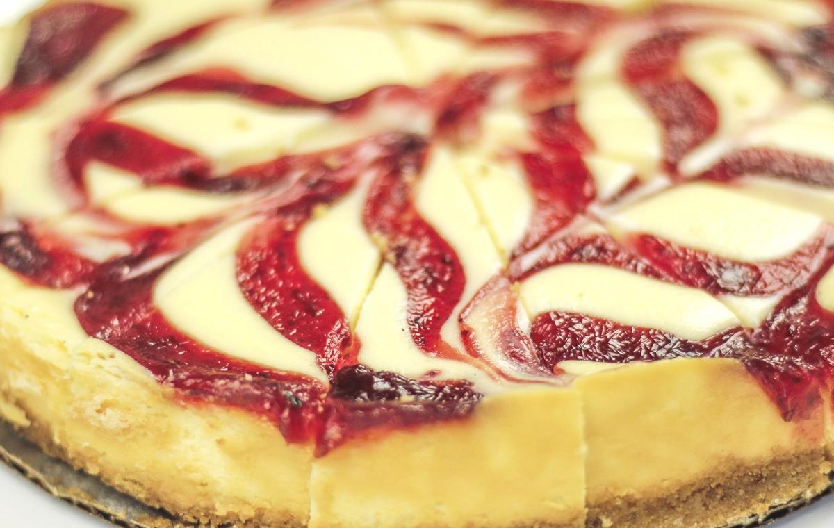 Raspberry Swirl Cheesecake - Great Northern Baking Company
